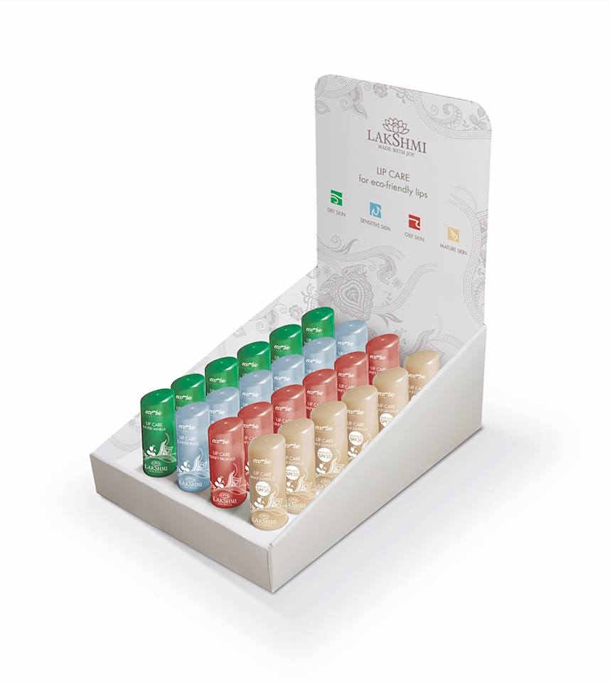Lakshmi Display Holistic Lippenbalsems voor Eco-Friendly Lips