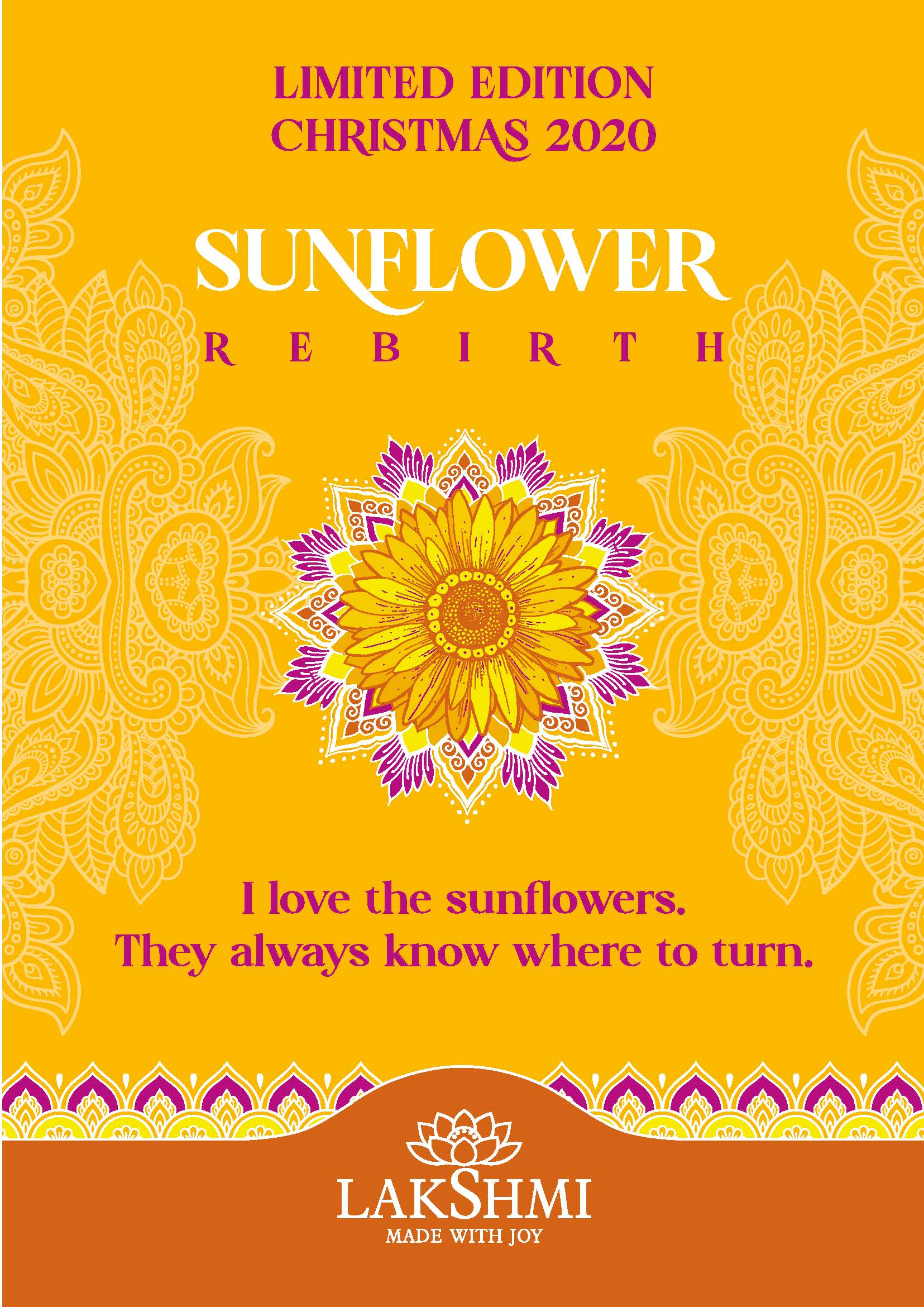 SUNFLOWER REBIRTH – limited edition body cream